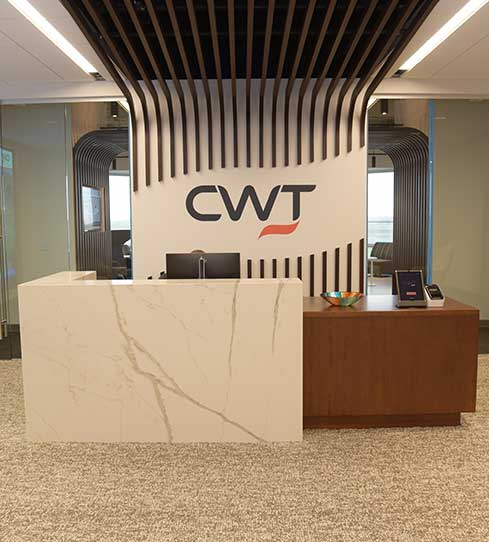 Minneapolis office -reception desk