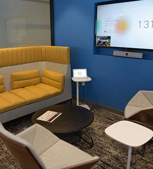Minneapolis office - casual meeting space